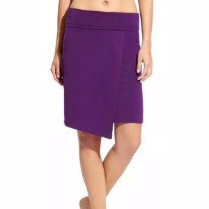Athleta Seaside Fold Over Wrap Skirt Purple Small